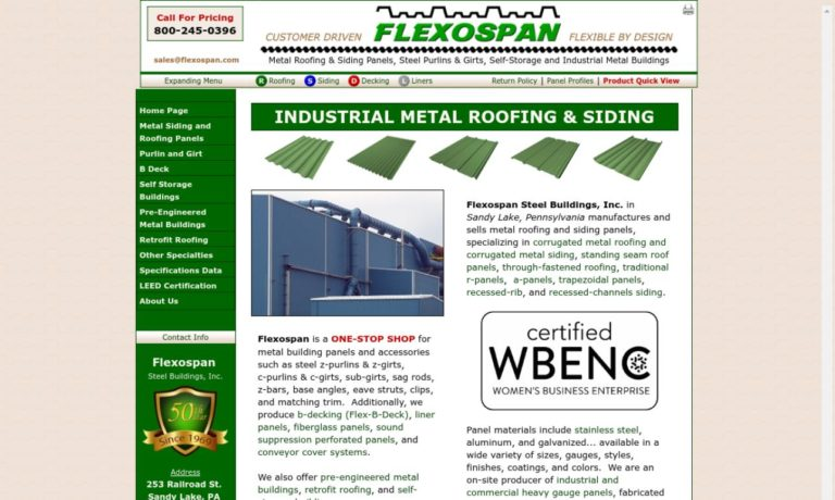 Flexospan Steel Buildings, Inc.