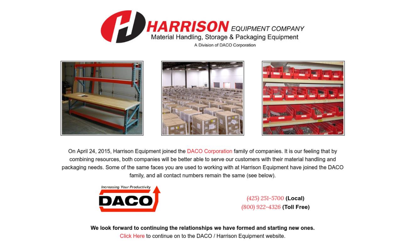 Harrison Equipment Company, Inc.